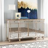 """Willa Arlo™ Interiors Roehl 70"""" Wide 3 Drawer Buffet Table Wood in Black/Brown/Green, Size 38.0 H x 70.0 W x 20.0 D in   Wayfair"""