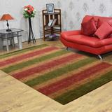 World Menagerie Smathering Hand-Knotted Green/Gold Area Rug Jute & Sisal in Yellow, Size 144.0 H x 108.0 W x 0.75 D in | Wayfair