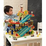 KidKraft Toy Cars and Trucks - Wash 'n' Go Wooden Car Garage