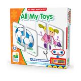 The Learning Journey Puzzles - All My Toys My First Match It! Puzzle Card Set