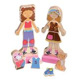 Constructive Playthings Dollhouses Wood - Magnetic Dress-Up Set