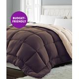 Blue Ridge Home Fashions Comforters Chocolate/Khaki - Chocolate & Khaki Lightweight Down-Alternative Comforter