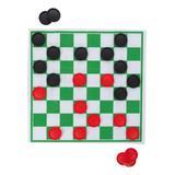 Trademark Global Board Games - Giant Checkers & Tic-Tac-Toe Board Game Rug Set