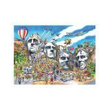 Cobble Hill Puzzles - Doodle Town Mount Rushmore 1000-Piece Puzzle