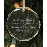 Stamp Out Online Ornaments clear - 'In Loving Memory' Personalized Crystal Ornament