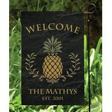 Personalized Planet Garden Flags - Pineapple 'Welcome' Personalized Outdoor Flag
