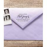 The Stamp Company Stamps black - Beautiful Personalized Self-Inking Address Stamp