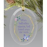 GiftsForYouNow Ornaments Clear - 'Butterflies Appear' Memorial Ornament