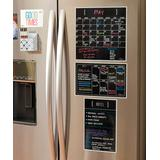 a'la Board Calendars Black - Black Fluorescent Dry-Erase Monthly/Weekly Memo Wall Decal Set