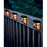 Plow & Hearth Solar Decor - Mission-Style Solar Deck Accent Lights - Set of Four