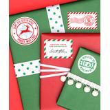 Chickabug n/a - Santa's Workshop Gift Stickers - Set of 15