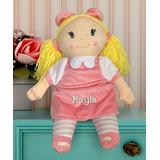 GiftsForYouNow Dolls White - 10'' Plush Blonde Embroidered Little Darlings Personalized Doll