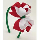 Fairy Bow Mother Girls' Headbands RED - Christmas Pinwheel Headband