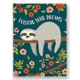 Studio Oh! Journals and Planners - 'Follow Your Dreams' Sloth Deconstructed Journal