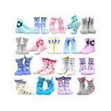 TeeHee Kids Socks Multicolor - Blue & White Floral 18-Pair Crew Socks Set - Kids