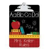 Personalized Planet Clipboards - Teachers Rule Personalized Clipboard