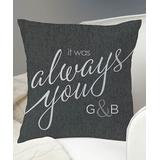 Personalized Planet Throw Pillows - 'It Was Always You' Personalized Throw Pillow
