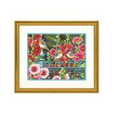 PaintWorks Craft Kits - Hollyhock Gate Paint-by-Number Set