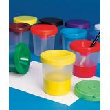S&S Worldwide Craft Tools - No-Spill Paint Cup - Set of 10