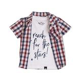 Littlest Prince Couture Boys' Button Down Shirts - Red Gingham Button-Up Set - Infant, Toddler & Boys