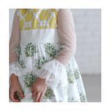 Oopsie Daisy Girls' Blouses White - White Sheer Dot Crewneck Top - Toddler & Girls
