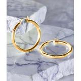 Yeidid International Women's Earrings - 18k Gold-Plated Hoop Earrings