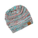 C.C Women's Beanies red/teal/brown/white - Teal & Coral Marled Beanie
