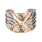 Anju Women's Bracelets Mixed - Tri-Tone Adri Cuff