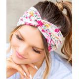 Aili's Corner Women's Headbands Blush - Blush Floral Wrap Headband