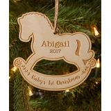 Personalized Planet Ornaments - 'Baby's 1st Christmas' Rocking Horse Personalized Ornament