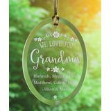 Personalized Planet Ornaments - 'We Love You' Personalized Suncatcher