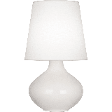 """Robert Abbey June Oyster TL June 31"""" Vase Table Lamp with an Oyster Linen Shade Lily"""