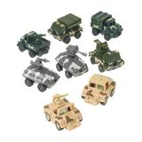U.S. Toy Company Toy Cars and Trucks - Pull-Back Army Vehicle - Set of 12