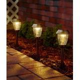 Smart Living Solar Path Lighting - Bronze Charleston Solar Pathway Light - Set of Six