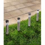 Pure Garden Solar Decor - Tube Solar LED Garden Stake Lights