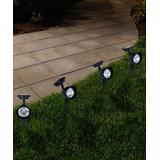 Pure Garden Solar Decor - Solar Pathway Spotlights - Set of Four