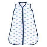 Hudson Baby Boys' Infant Sleeping Sacks Blue - Blue Whale Wearable Blanket - Newborn & Infant