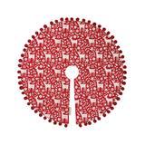 Primitives by Kathy Christmas Tree Skirts - Red Reindeer Tree Skirt
