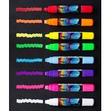 a'la Board Markers - Fluorescent Dry-Erase 10-mm Tip Marker - Set of Eight