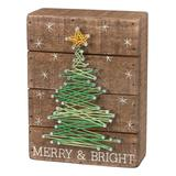 Primitives by Kathy Block Signs - 'Merry & Bright' String Art Wall Decor