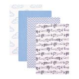 Hudson Baby Boys' Receiving and Stroller Blankets Airplane - White & Blue Airplane Flannel Receiving Blanket Set