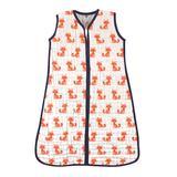 Hudson Baby Boys' Infant Sleeping Sacks Foxes - White & Orange Fox Wearable Blanket - Newborn & Infant