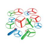 Constructive Playthings Toy Planes - Mini Pull String Saucers - Set of 12