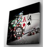 Wallity Canvases Multicolor - Pair of Aces LED Wrapped Canvas