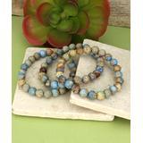 ZAD Women's Bracelets - Blue Jasper Stretch Bracelet Set