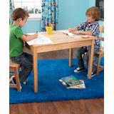 KidKraft Indoor Table Chair Sets Natural - Natural Three-Piece Rectangle Table & Chair Set