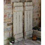 Doug & Cristy Designs Furnishing Accessories White - White Reclaimed Wood Farmhouse Shutters - Set of Two