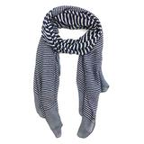 East Cloud Women's Accent Scarves Navy - Navy & White Stripe Scarf
