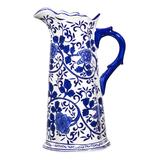 Home Essentials and Beyond Pitchers - Blue & White Floral Pitcher