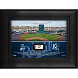 """""""Kansas City Royals Framed 5"""""""" x 7"""""""" Stadium Collage with a Piece of Game-Used Baseball"""""""